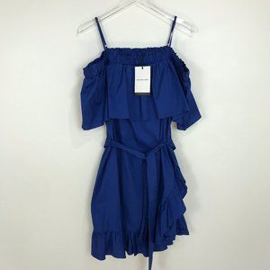 NWT Who What Wear cobalt blue dress